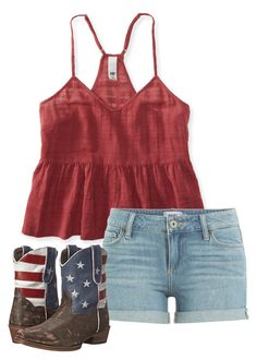 """""""4th of July"""" by mags07 ❤ liked on Polyvore featuring Aéropostale, Paige Denim and Roper"""