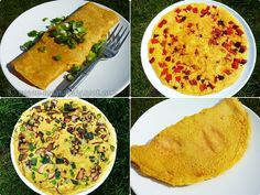 Chickpea-based VEGAN OMELETTE - simple and easy to make, filling, budget-friendly, nutritious, gluten-free and absolutely sensational! Vegan Breakfast Options, Healthy Vegan Breakfast, Savory Breakfast, Raw Vegan, Vegan Vegetarian, Vegetarian Recipes, Vegan Egg, Vegan Foods, Vegan Dishes
