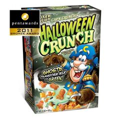 love love love this Halloween cereal packaging!