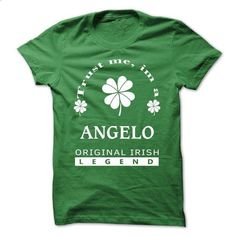 [SPECIAL] Trust Me Im A ANGELO St. Patricks Day  - #hoodie costume #white hoodie. CHECK PRICE => https://www.sunfrog.com/Valentines/[SPECIAL]-Trust-Me-Im-A-ANGELO-St-Patricks-Day-.html?68278