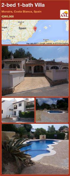 2-bed 1-bath Villa in Moraira, Costa Blanca, Spain ►€265,000 #PropertyForSaleInSpain