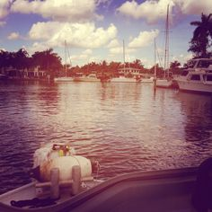 Scenes from the New River in Fort Lauderdale, FL