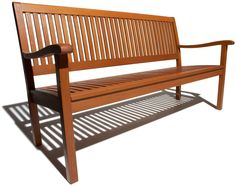 Amazon.com : Strathwood Basics All-Weather Hardwood 3-Seater Bench : Outdoor Benches : Patio, Lawn & Garden