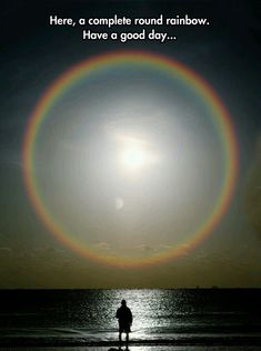 Er, that would be a halo. Rainbows appear in the opposite side of the sky. Anyway....