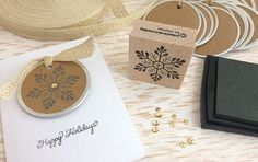 Loving our new KRAFT circle tags. Graphite fresh ink is perfect to use on it.