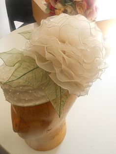 Hat by Mrs. Essie Edwards, my millinery instructor. Flower made by a student.