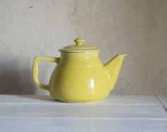 Yellow teapot | Etsy