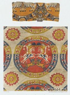 Ancient Byzantine silk fabrics, VI-VII. Century