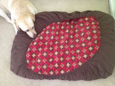 TiPs *N* GiGgLeS!: DIY NO SEW Doggy Bed or Floor Pillow