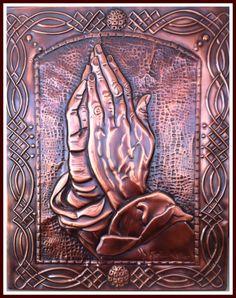 """QUADRO """"ORAI SEM CESSAR"""" -  Uma releitura da famosa obra de Albrecht Dürer """" Prayng Hands""""."""