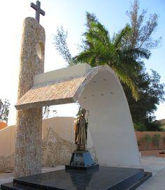 Memorial John Paul II in city of Santa Clara, Cuba. Has been unveiled a statue commemorating Pope John Paul II historic trip to Cuba. website - http://Cubatravelnow.net