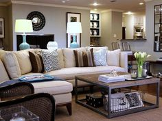 Love the corner sofa placed in the middle of the room!