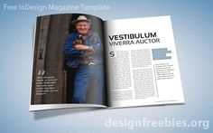 Magazine InDesign template. #indesign #indesigntemplates