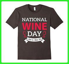 Mens Funny Drinking NATIONAL WINE DAY Jan 1 - Dec 31 T-Shirt XL Asphalt - Food and drink shirts (*Amazon Partner-Link)