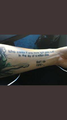 Beautiful Linkin Park tattoo. Song is One more light.