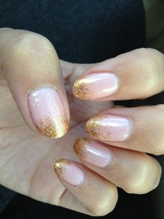 pink and gold tip nails - Google Search
