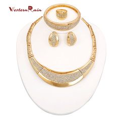 Find More Jewelry Sets Information about WesternRain 2016Chunky Big Jewelry Gold Plated African Wedding Fashion Jewelry Set Women with Charms Earrings Dubai Jewelry A112,High Quality costume jewelry men,China jewelry collar Suppliers, Cheap costume wedding jewelry from WesternRain on Aliexpress.com