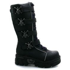 Mad fish Gothic Vegan Black Goth Platform Boots: Amazon.co.uk: Shoes & Accessories