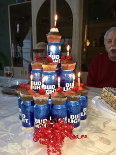 Beer tower cake