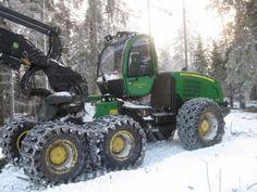 John Deere Woods Equipment, John Deere Equipment, Logging Equipment, Heavy Equipment, Old Tractors, John Deere Tractors, New Tractor, Machine Photo, Engin