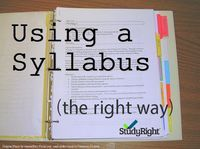 Using a syllabus the right way. Be sure to check out this study skill before heading back to school this fall! http://studyright.net/blog/use-a-syllabus