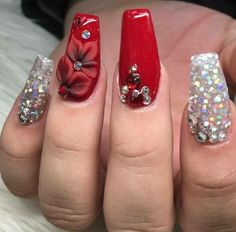 Make an original manicure for Valentine's Day - My Nails Xmas Nails, Holiday Nails, 3d Nails, Christmas Nails, Cute Nails, Christmas Holiday, Fabulous Nails, Gorgeous Nails, Gel Semi Permanent