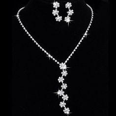 Womens Bridal jewellery Sets. Rhinestone Necklace & Earring Set Clear Crystal Drop Earrings, http://www.amazon.co.uk/dp/B010NSBV9C/ref=cm_sw_r_pi_awdl_CWOKvb152KPQX