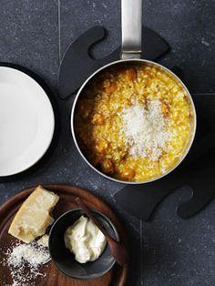 Pumpkin & Vermouth Risotto with Mascarpone & Parmesan