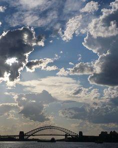 Last evening on the Manly ferry with the sky sunshowering us all quite majestically!  #sydney #sydneyharbourbridge #australia #clouds #sky #architecture #bridge #amazingplaces #paradise #traveltips #travel #backpacker #nature #nomad  #adventure #hiddengem #wanderlust #mothernature #naturelovers #changes #naturelover #traveler #beautiful #travelling  #_ig_photobox  #worldbestgram by halfcenturytraveller http://ift.tt/1NRMbNv