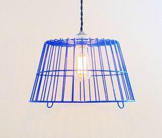 Blue Egg Basket Lamp, Uncovet.com