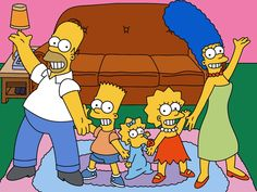 The Simpsons:  Homer, Bart, Meg, Lisa and Marge