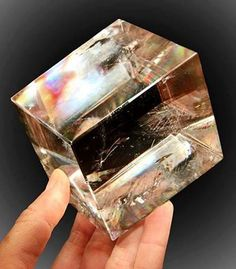 Iceland spar is a special transparent variety of calcite