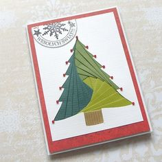 iris folding Christmas tree - I like the added star bits at the branch tips