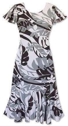 jazz silver malia hawaiian dress