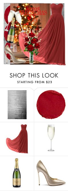 """""""MERRY CHRISTMAS AND A HAPPY NEW YEAR♥"""" by fenito ❤ liked on Polyvore featuring Designers Guild, Temptu, Remedios, Tt Collection, Crate and Barrel, Casadei and Nearly Natural"""