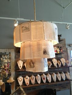 DIY Chandelier out of book pages