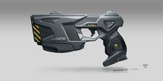 Non-lethal, antiriot shotgun for heavy guards. Personal project with concepts of characters, equipments, vehicles, buildings and more. GREYSTONE is a multinational security agency i. Sci Fi Weapons, Weapon Concept Art, Sci Fi Pistol, Body Armor Plates, Hand Cannon, 3d Cnc, Gun Art, Shadowrun, Tactical Gear
