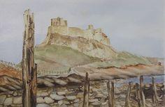 Lindisfarne Castle , original watercolour painting £35.00