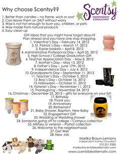 Need gift ideas? www.revaernst.scentsy.us