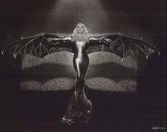 Mae West In Bat Costume