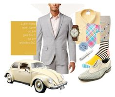 """You're Wonderful"" by quicherz on Polyvore featuring Bar III, Happy Socks, Brooks Brothers, Giorgio Brutini, Saddlebred, Lanvin, Bburago, Timex, men's fashion and menswear"