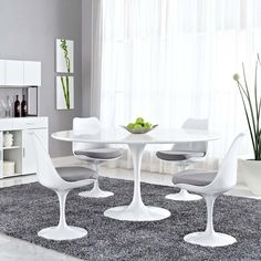 """$677.00 Modway Lippa 60"""" Wood Top Dining Table Achieve the perfect completion of time and grace with the classic Lippa Table. Reflect seamlessly as organic shapes and a slender stem-like pedestal glide you to the perfect vantage point."""