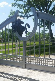 Chicago Driveway Gates, Custom Metal Fabrication, Horse Gates, Farm Gates