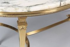 Mid-Century Marble-Top Kidney Shaped Brass Coffee Table 9