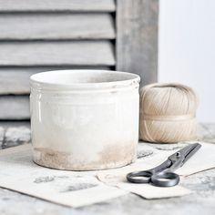 Antique French Ironstone Pot | by Petits Détails