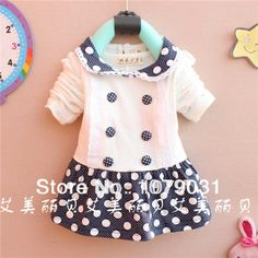 Baby dress/girl dress/Preppy Style/cute/Cotton 100%/New 2014 arrival/free shipping/for7 24month-in Dresses from Apparel & Accessories on Ali...