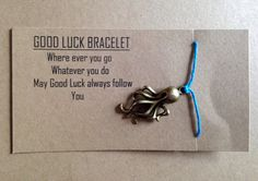 Check out this item in my Etsy shop https://www.etsy.com/listing/227013729/good-luck-bracelet