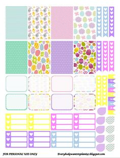 Planner & Journaling Printables ❤ FREE Easter Theme Planner Stickers : Everybody Wants To Plan 697