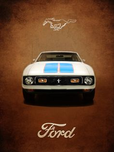 Ford Mustang 72 Art Print by Mark Rogan Mustang Girl, Ford Mustang Shelby, Ford Mustangs, Us Cars, Sport Cars, Ford Mustang Wallpaper, Chevy, Classic Car Insurance, Ford Classic Cars