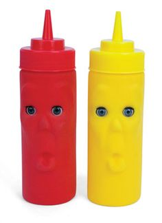 funny coloured cooking utensil - ustensile de cuisine rigolo de couleur - Blink Ketchup and Mustard by kikkerland